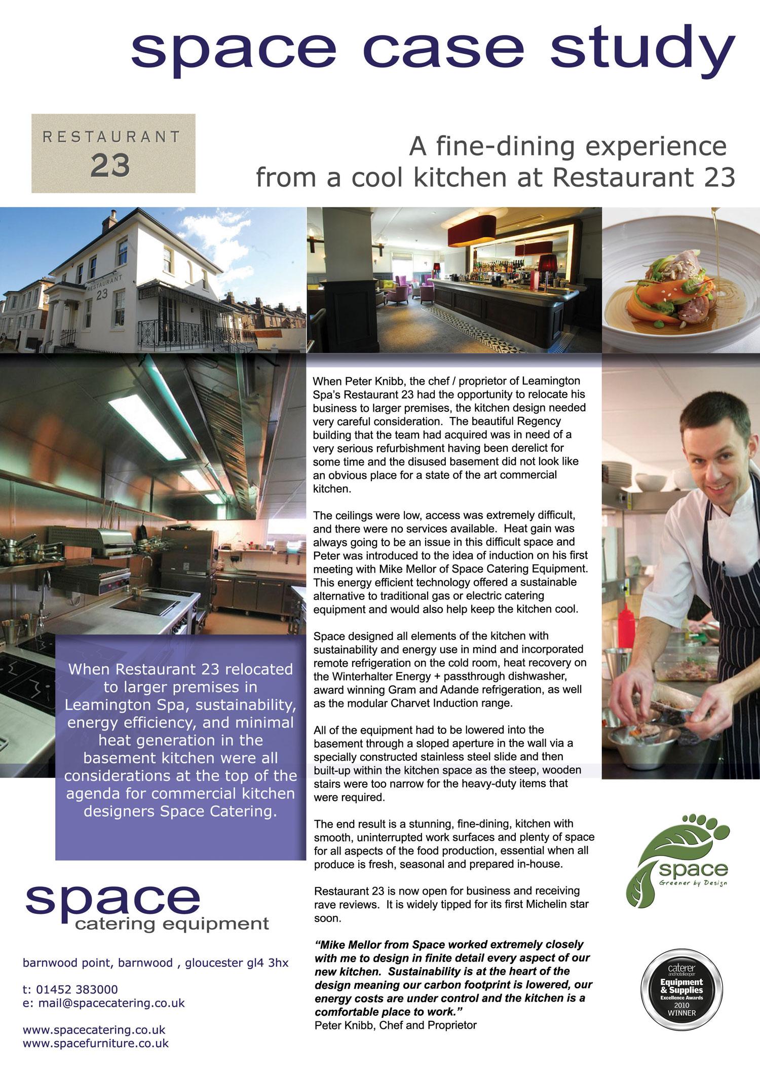 Restaurant 23, Leamington Spa - Charvet - Premier Ranges