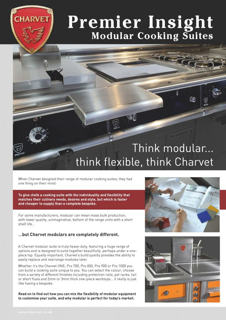 Newsletter on modular cooking suites