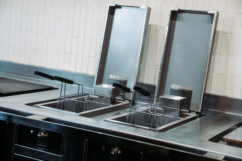 twin fryers at thyme restaurant