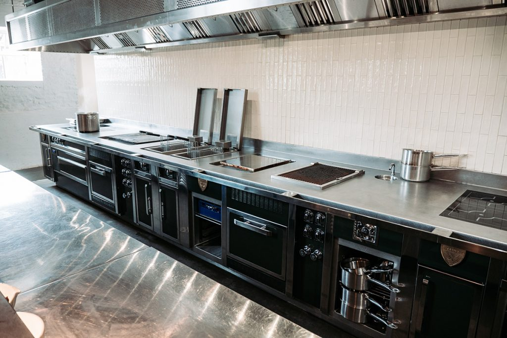 charvet bespoke professional cooking suite with continual one-piece top